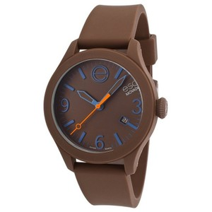ESQ ESQ07301456 Unisex Brown Silicone Bracelet Brown Analog Dial Watch