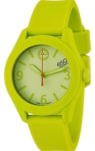 ESQ ESQ07101453 Women's Lime Green Silicone Band Lime Green Analog Dial