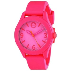 ESQ ESQ07101455 Women's Pink Silicone Bracelet With Pink Analog Dial Watch