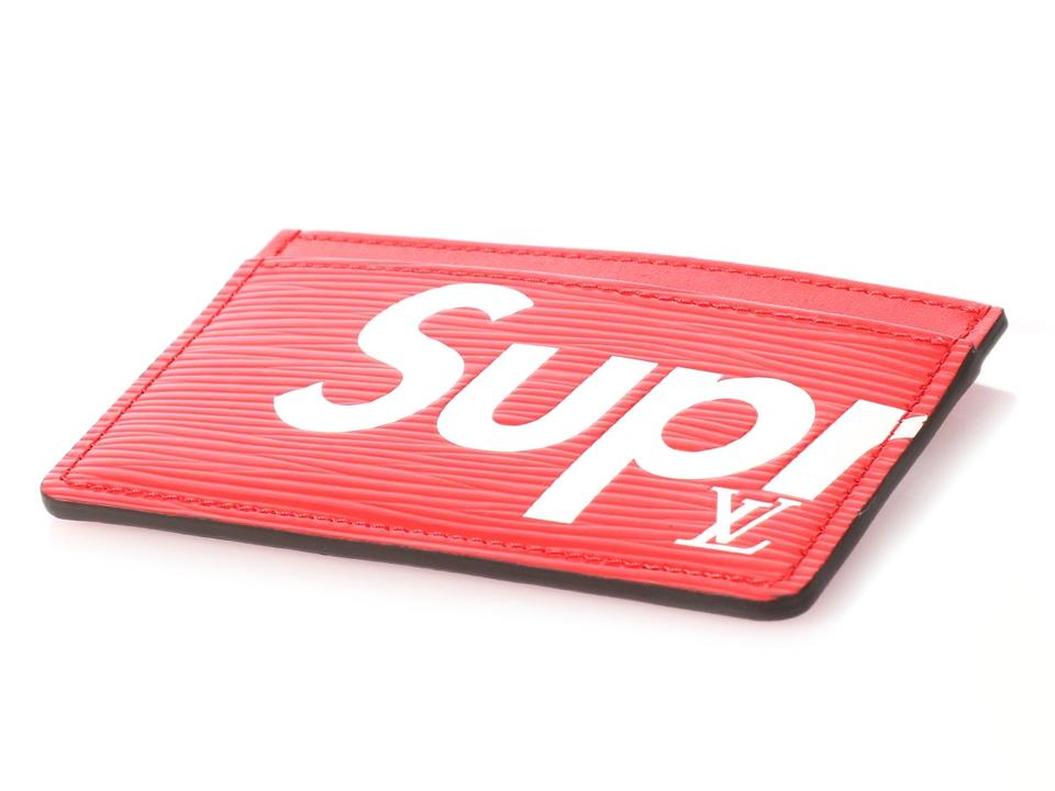 d70c55f6f5efb Louis Vuitton x Supreme Red Epi Card Holder - Tradesy