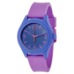 ESQ ESQ07101454 Women's Violet Silicone Bracelet Blue Analog Dial Watch