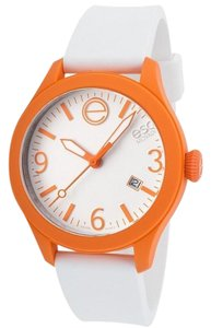 ESQ ESQ07301458 Unisex White Rubber Band With White Analog Dial Watch