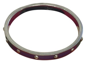 Coach Coach purple nailhead bangle