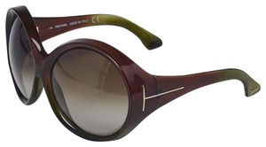 Tom Ford TOM FORD Brown Acetate Oversized Alessandra Sunglasses
