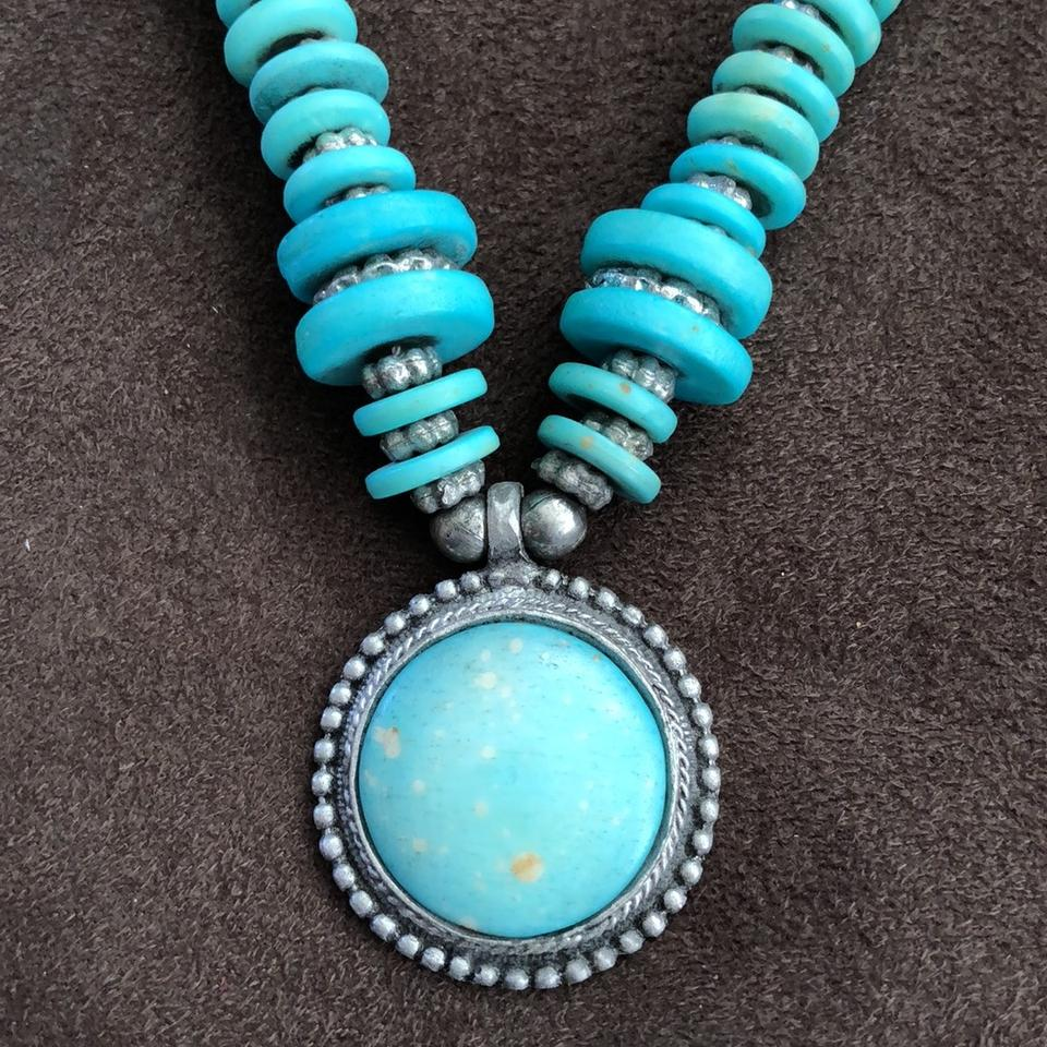 Turquoise and silver thai pendant necklace tradesy turquoise and silver thai pendant necklace aloadofball Choice Image