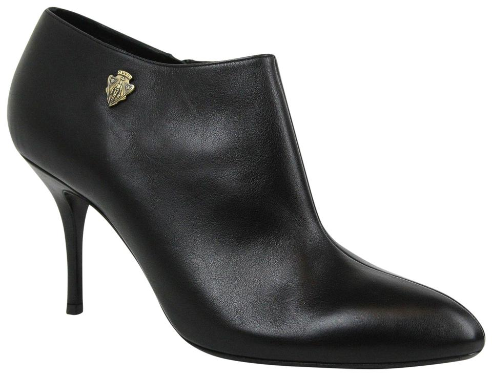 e2e8ce297 Gucci Black Hysteria New Women's Leather Ankle 40.5/ 317038 Boots/Booties
