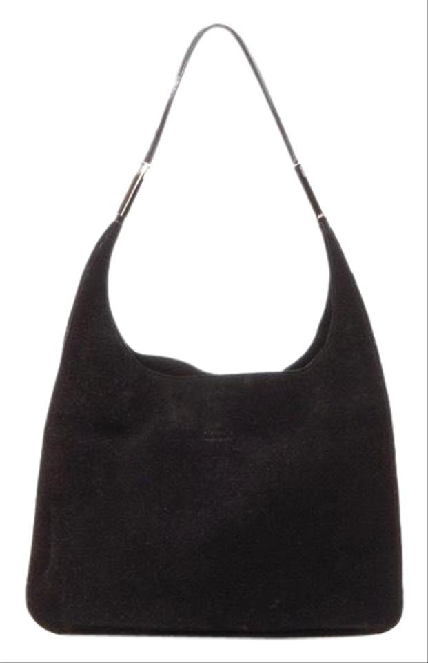 6b209ba81c2fc0 Gucci Tote Shoulder Looping Large Black Suede Leather Hobo Bag - Tradesy