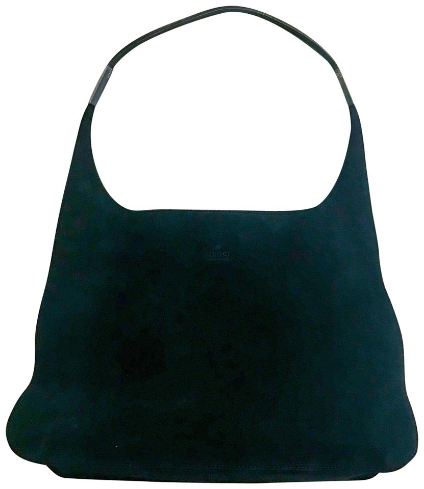 85f2f8c0966f Gucci Large Looping Shoulder Black Suede Leather Hobo Bag - Tradesy