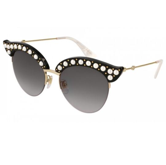 10aa2120d8b 001 Gg0212s Faux Pearl Trim Cat Eye Sunglasses by Gucci