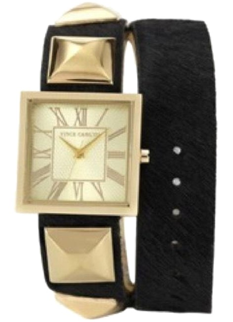 Item - Black Double Wrap Leather Strap 27mm Watch