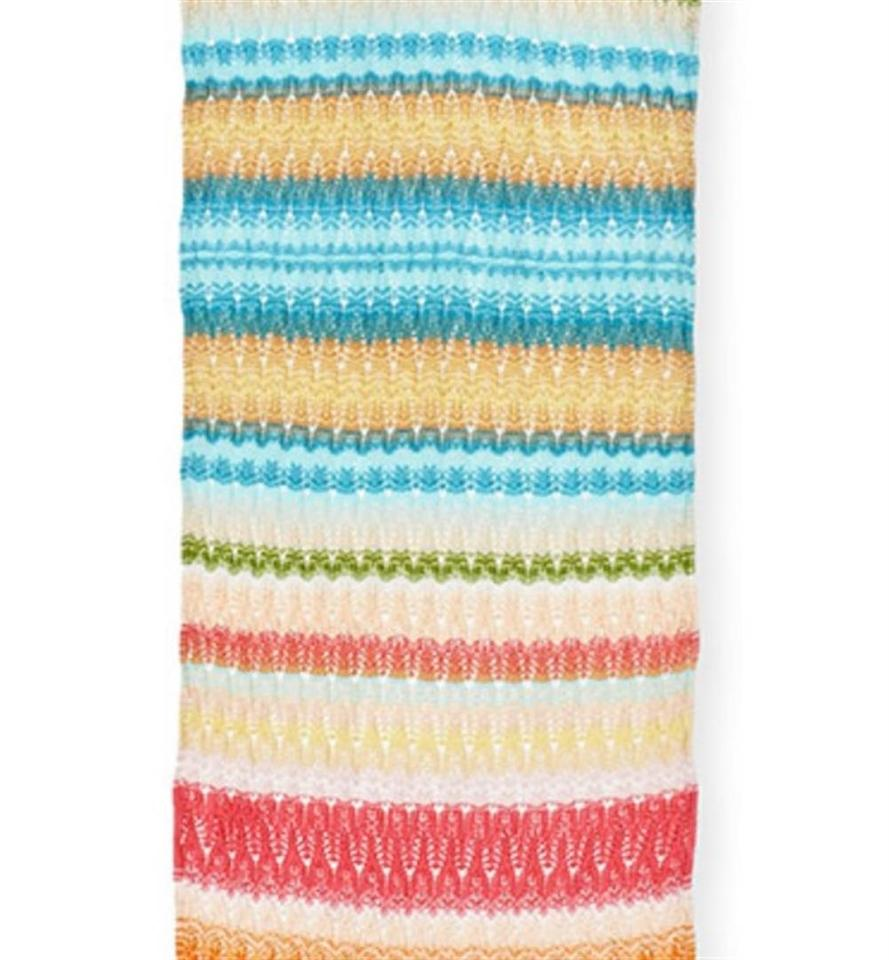 b99167489d Missoni Multicolor New Striped Zigzag Long Made In Italy Knit Zig ...