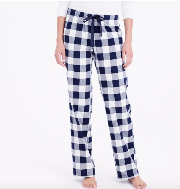 Item - Navy Ivory Yarn Dyed Flannel Pajama S Pants Size 6 (S, 28)