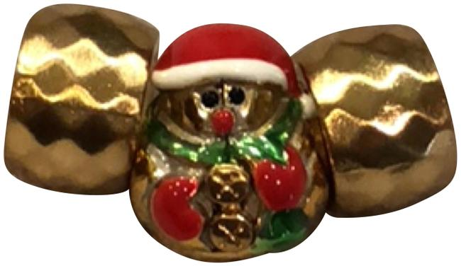 Item - Gold Red Green Papa Noel Stopper Bead J95162 Perfection Bead J96261 Charm