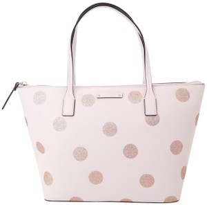 Kate Spade Black Small Tote in Light Pink