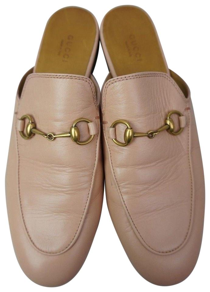 964199edae4 Gucci Light Pink Princetown Loafer Leather Women s Mules Slides Size ...