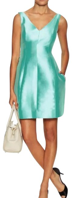 Preload https://img-static.tradesy.com/item/22534710/kate-spade-aquaturquoiseblue-green-structured-silk-mini-njmu4937-short-cocktail-dress-size-10-m-0-3-650-650.jpg