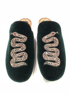 Gucci Princetown Lawrence Crystal Snake green Flats