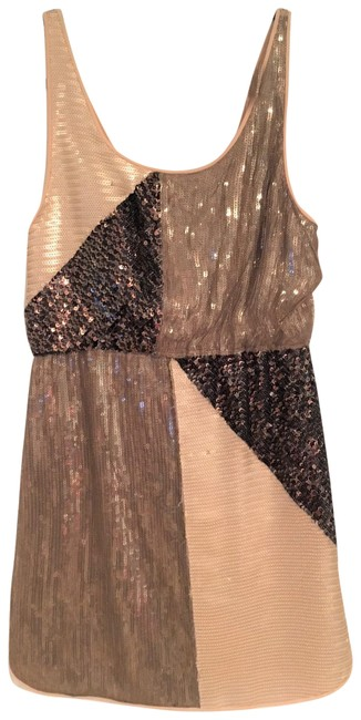 Item - Brown Tan Sequin Party with Cowl Back Short Cocktail Dress Size 8 (M)