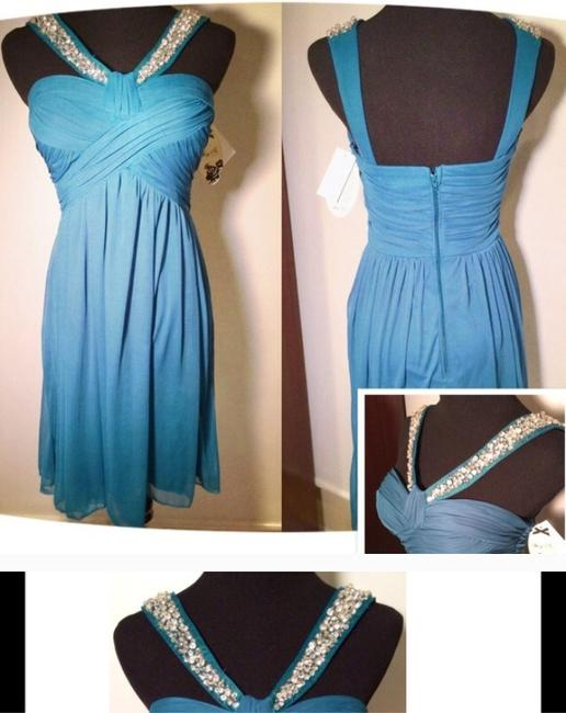 Nordstrom Evening Bridesmaid Wedding Wedding Guest Of Wedding Formal Blue Bedazzled Bust New Cocktail Tropical Destination Dress