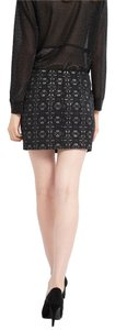 Maje Mini Mini Mini Skirt BLACK