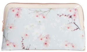 Ted Baker Nwt Large Cherry Blossom Cosmetics Case
