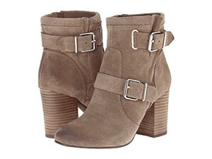 Vince Camuto Suede Leather Ankle Buckle Grey Boots