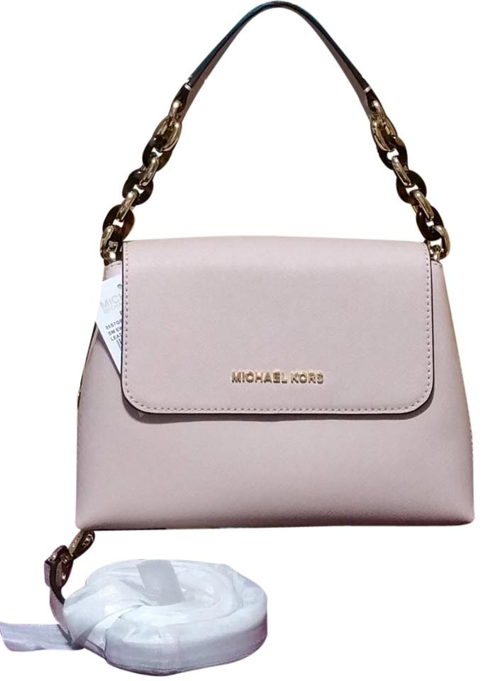 766904d3496d Michael Kors Portia Sofia Small East West Ballet Pink Leather ...