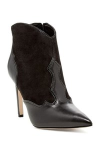Sam Edelman Leather Pointed Toe Ankle Black Boots
