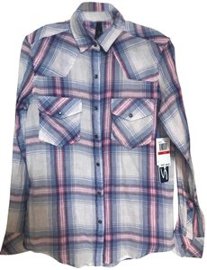 Seven7 Button Down Shirt blue/white/pink