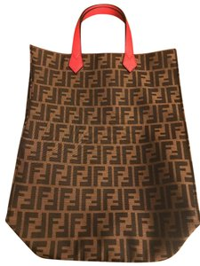 Fendi Ff Zucca Shopper Tote in Brown