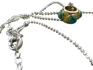 Silpada Sterling Silver, Compressed Turquoise & Brass Pendant Necklace #N3182
