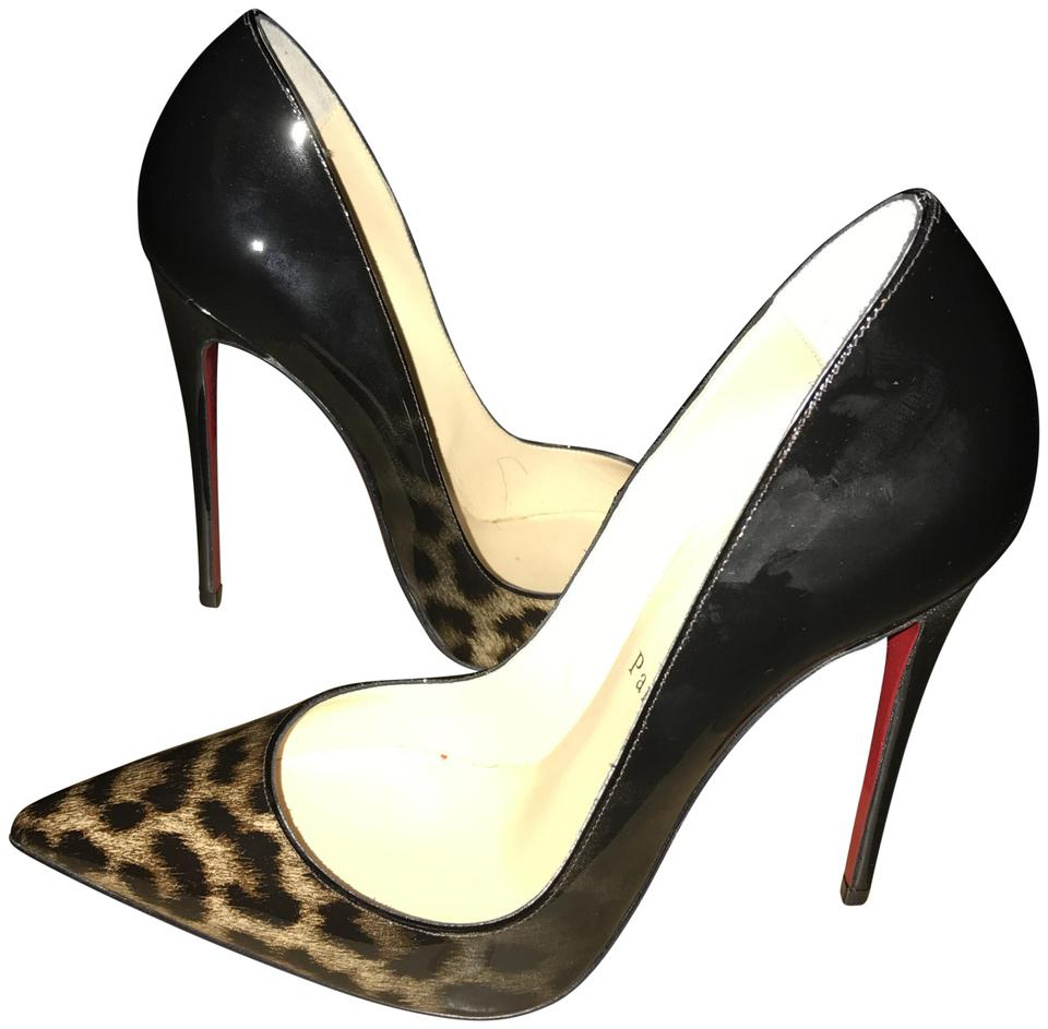 35bca3cda164 Christian Louboutin So Kate Patent Leather Leopard and Black Degrade Pumps  ...