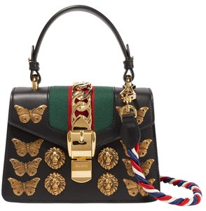 Gucci Sylvie Animal Studded Mini Shoulder Bag