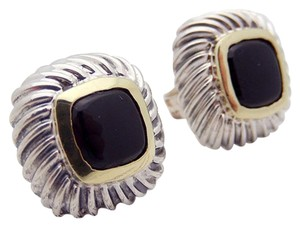 David Yurman David Yurman 13mm Black Onyx Albion Earrings in Sterling Silver & 18K