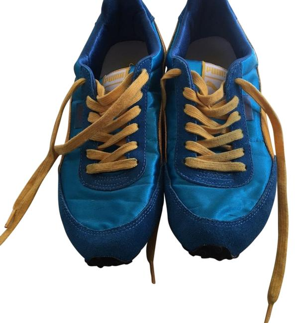 Puma Blue and Yellow Sneakers Size US 7