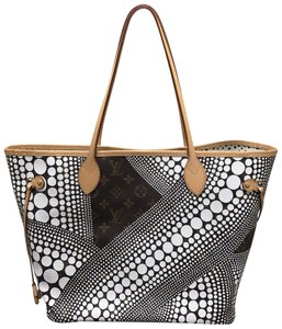 Louis Vuitton Limited Kusama Dots Waves Tote in Brown/White