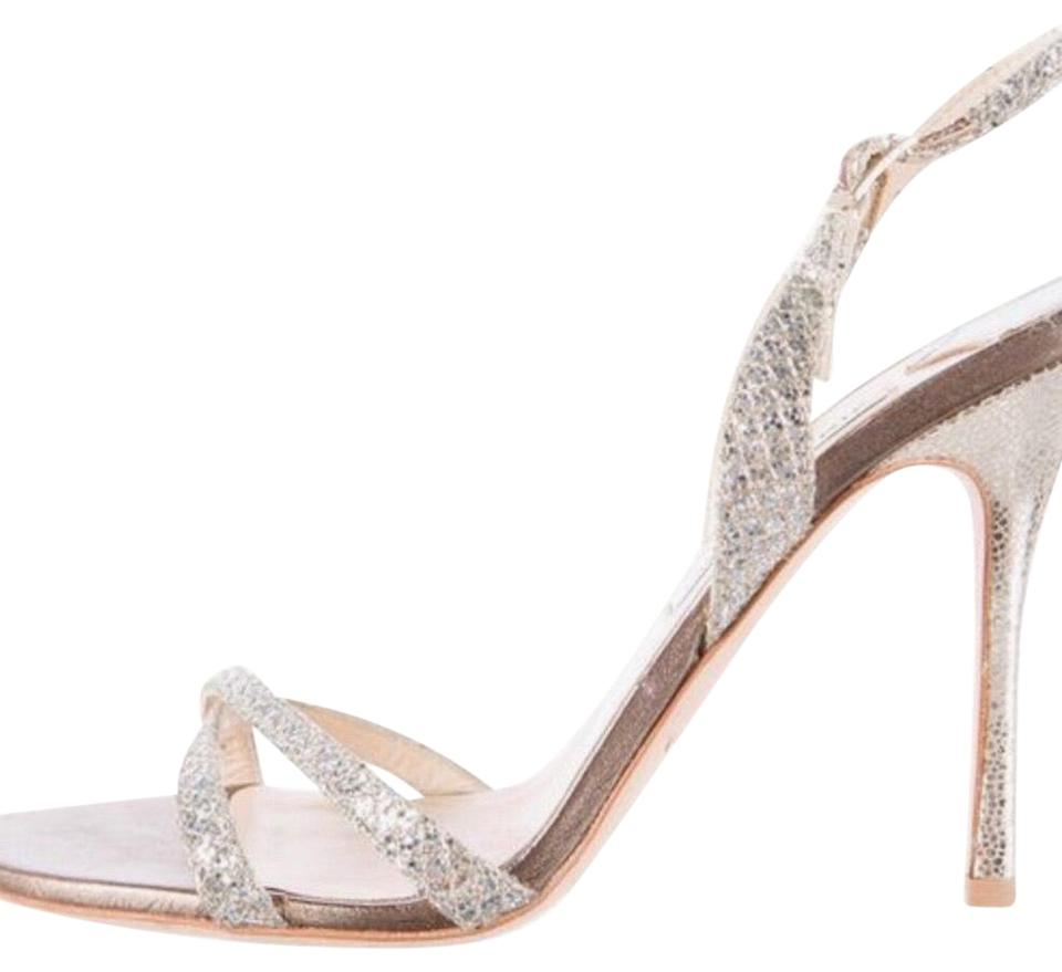 770f7dceb027 Jimmy Choo Silver Glitter India Formal Shoes Size US 10 Regular (M ...