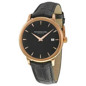 Raymond Weil Toccata Black Dial Men's Leather Watch