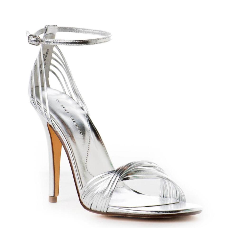 Chinese Laundry Silver Metallic Metallic Silver Heel Sandals 0d9f1c