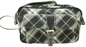 Burberry Nova Leather Check Shoulder Cross Body Bag