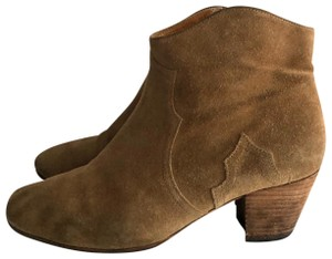 Isabel Marant Suede Ankle Tan Medium Brown Boots