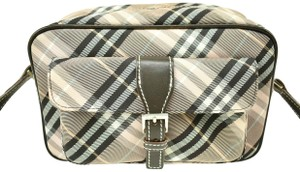 Burberry Nova Leather Check Cross Body Bag