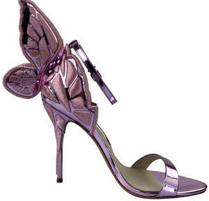 Sophia Webster Chiara Rosa Metallic Pumps