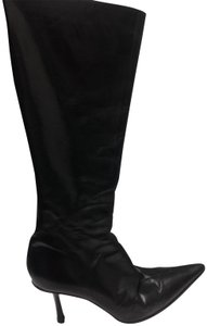 Jimmy Choo Leather Knee High black Boots