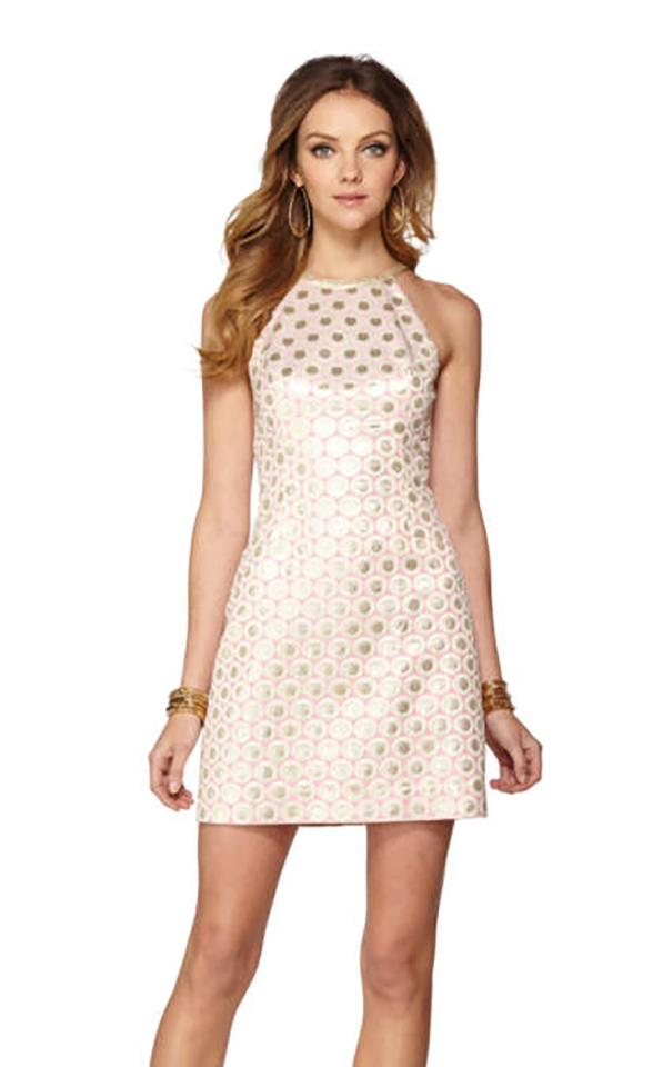 Lilly Pulitzer Rose Gold Pearl Short Cocktail Dress Size 4 (S) - Tradesy