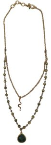 Lucky Brand Gold Double Chain Snake Necklace