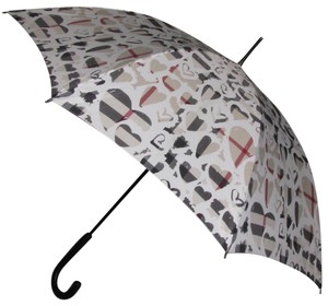 Burberry NEW PAINTED HEARTS CHECK UMBRELLA