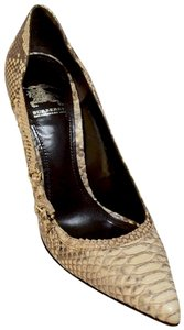 Burberry Snakeskin Made In Italy. Boxr Classy&timeless Beige Pumps