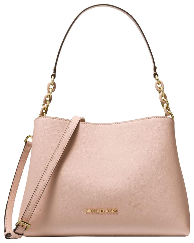 d912d3c37f86 Michael Kors East West Sofia Portia Tote Ballet Pink Leather Satchel ...