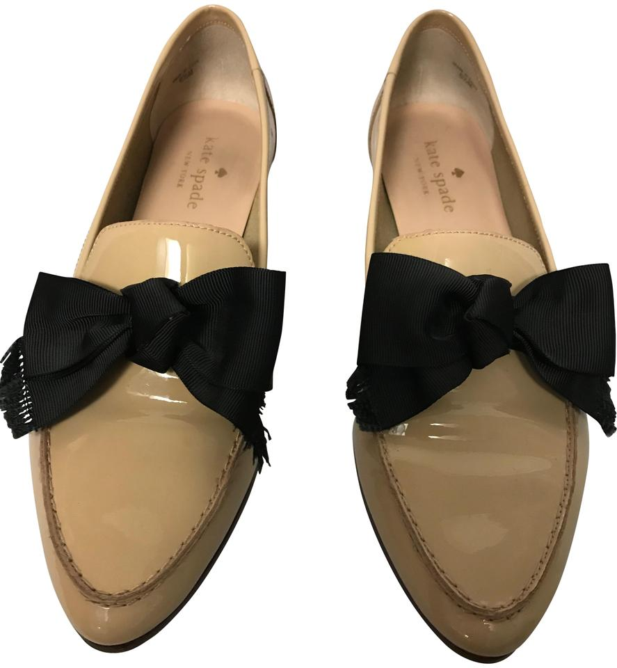 596295f03e76 Kate Spade Pale Pink Cosetta Too Soft Patent with Black Bow Flats ...